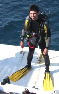 Myself getting ready to dive.